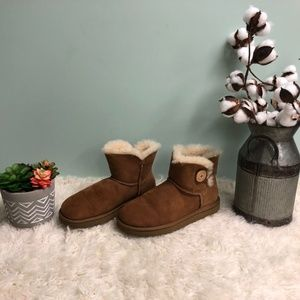 UGG Shoes - UGG Mini Bailey Button Boots: Chestnut (PM27)